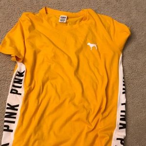 PINK yellow/orange  shirt